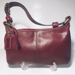 Coach Burgundy Bleeker Leather Hobo Bag